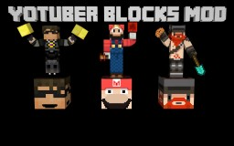 YOUTUBER BLOCKS MOD - 1.7.10 - CRAFT YOUR FAVORITE YOUTUBERS