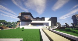 Modern Black & White House Minecraft Map & Project