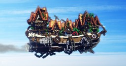 The Flying Village - Steampunk Airship Minecraft Project