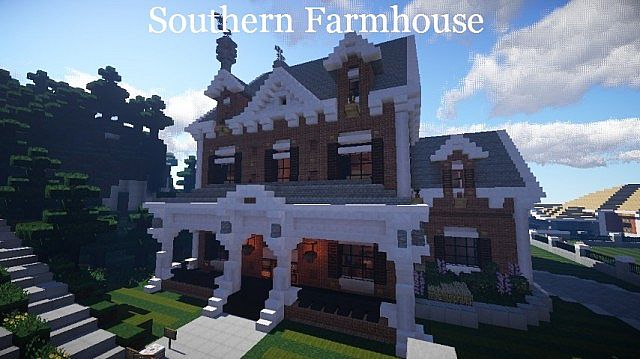 Southern farmhouse tma wok minecraft project for Southern farmhouse