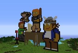 Pixel Art Plains Minecraft Map & Project