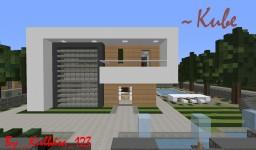 ~Kube~  ModernHouse Minecraft Map & Project