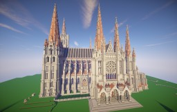 Chartres Cathedral - with DL, unfinished Minecraft Project