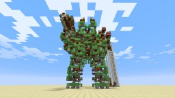 Giant Controllable Walking Battle Robot - Mega Gargantua Minecraft Map & Project