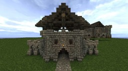 Medieval Gatehouse - Based on Riften Gatehouse in Skyrim Minecraft
