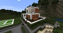 [1.7.10] Modern House with tennis-court Minecraft Map & Project