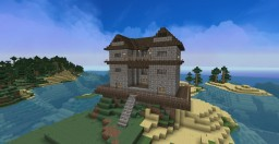 Old styled home on hill Minecraft Project
