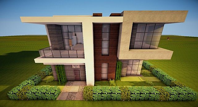 Modern house 20x20 minecraft project - Modern house minecraft ...