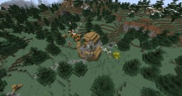 Wilderness Hunting/Survival House Minecraft Map & Project
