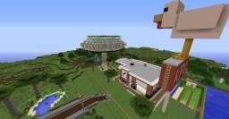 My KFC + U.F.O (Iron farm) Minecraft Map & Project
