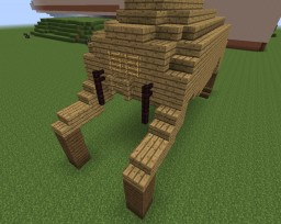 "semi-big wooden Headcrab ""statue"" Minecraft Project"
