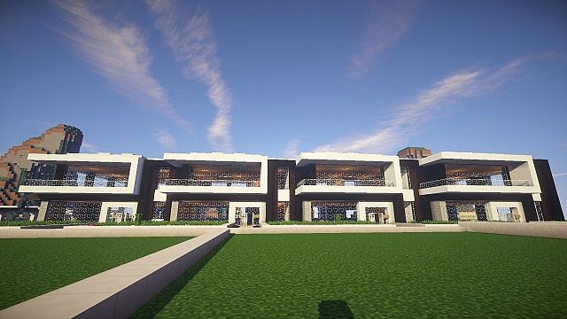 Modern terraced house 2 minecraft project for Whats a terraced house
