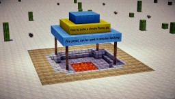 How to build a safe Fire Pit - flames will not spread Minecraft Blog Post