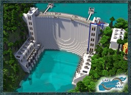 Lake Iliamna Dam- a moderm Dam  +Download Minecraft Project