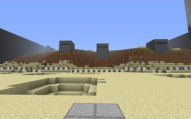 Minecraft Omaha Beach Minigame Map Like Castle Siege