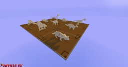 Dinosaur Skeleton Bundle Minecraft Map & Project