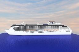 Island Princess 1:1 Scale Exterior Replica {Cruise Ship} Minecraft Map & Project