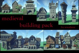 Medieval building pack (NEW BUILDINGS) Minecraft Map & Project