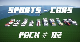 Sports-Cars Pack #02 [10 Cars][Schematic] Minecraft