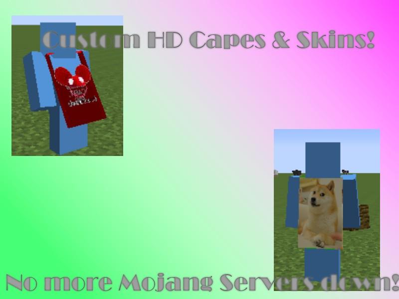 Custom HD Capes & Skins! Minecraft Mod