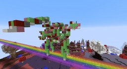 Pink Fluffy Robot Unicorn Dancing on Rainbows Minecraft