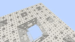 menger sponge Minecraft Map & Project