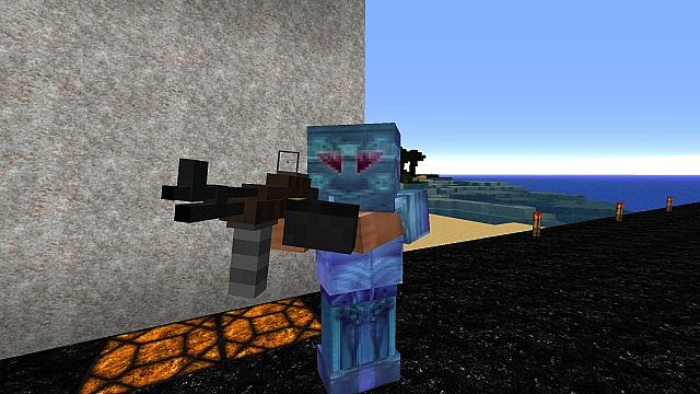 Player with gun attachments