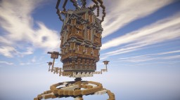 Flying steampunk house-Celestia Minecraft