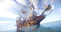 Golden Hind - English Galleon (1577) Minecraft Map & Project