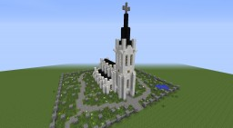 ►Town Church◄ (with graveyard) Minecraft Map & Project
