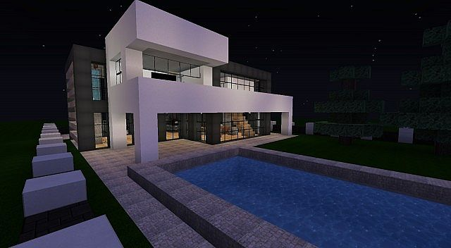 Modern Family Home With Interior Amp Garden Minecraft Project