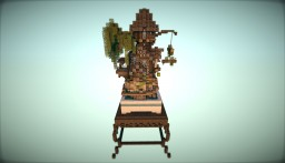 [Bonsai]Medieval house in a pot Minecraft