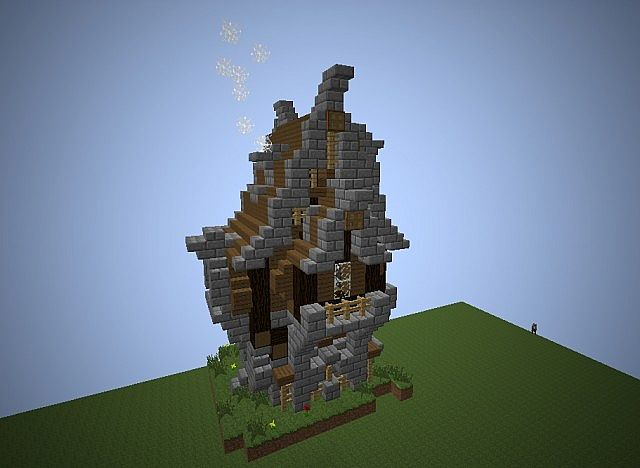 medieval  steampunk house minecraft project