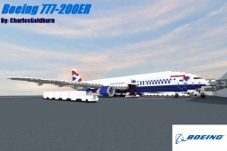 Boeing 777-200ER 2:1 Scale [8 liveries] [+Download] Minecraft Map & Project
