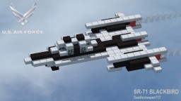 Sr-71 Black Bird Minecraft Map & Project