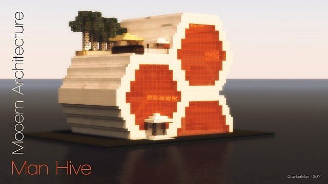 Man hive modern architecture minecraft project for Modern hive