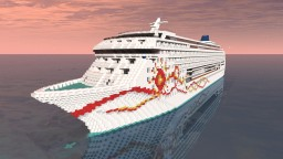 Minecraft Cruise Ship - Norwegian Sun 1:1 Replica Minecraft