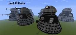 Giant 3D Daleks (Doctor Who) Minecraft Map & Project