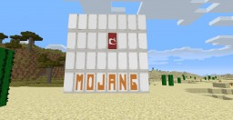 How to make the Mojang logo using Banners! There is also and extra! New 1.8 Banner!