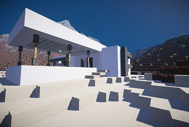 Modern Temple Style House Minecraft Project
