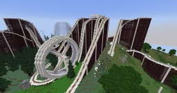 Minecraft Roller Coaster - Terminal Velocity Minecraft Map & Project