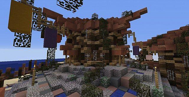 Small fishing town (Original) | Fishing village Minecraft ...