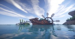 Organics - A giant water lizard pulling a boat Minecraft Map & Project