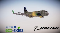 Boeing 737-900ER United Eco-Skies [2:1 scale] Minecraft Map & Project