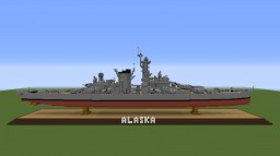 USS Alaska- Large Cruiser Minecraft Map & Project