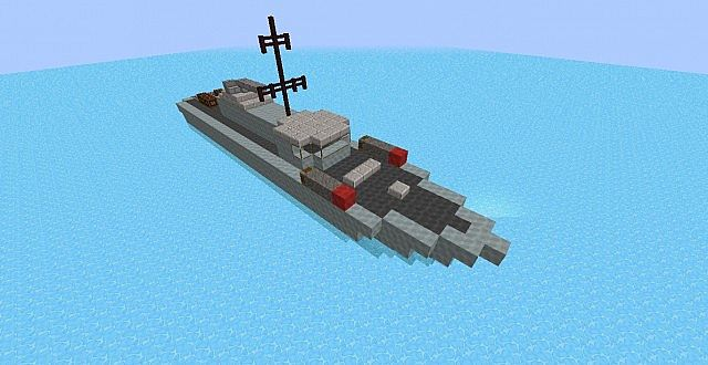 Small Military Boat Minecraft Project