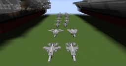 USS Enterprise CVN-65 Plane and Helo Pack Minecraft Project
