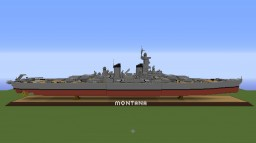 USS Montana- Battleship Minecraft Map & Project