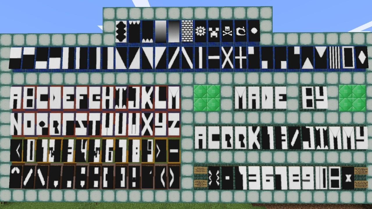 banner alphabet minecraft project