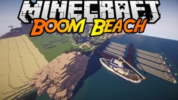 Boom Beach in Minecraft. - island + buildings.